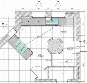 Plan De Travail 1m : implantation cuisine projet 3 et 4 votre avis merci 21 messages page 2 ~ Melissatoandfro.com Idées de Décoration