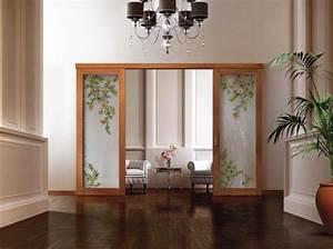 cloison coulissante en verre ou bois pour la maison moderne With porte coulissante en bois et verre