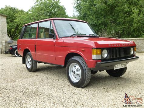 red land rover old very low mileage 1981 range rover 2 door classic