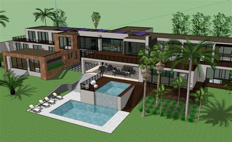 modern house design sketch  file