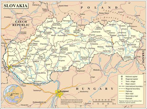 Carte Relief Europe Centrale by Carte De La Slovaquie Plusieurs Cartes Du Pays D Europe