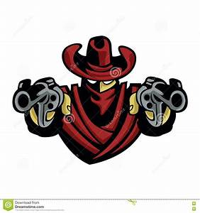 Outlaw Cowboy .Skull With Revolver Stock Vector ...