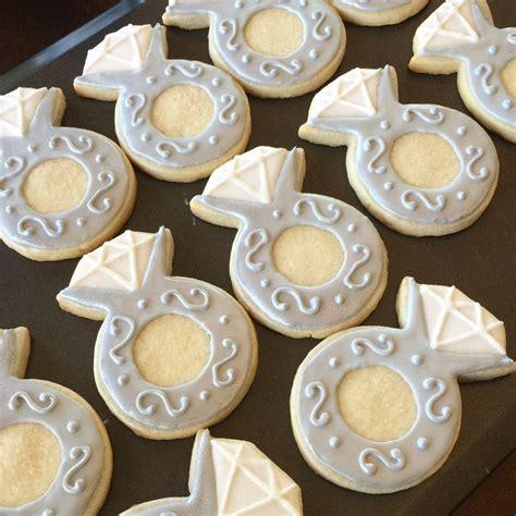 engagement decorated sugar cookies royal icing diamond