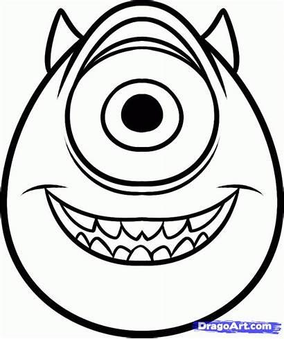 Easy Draw Mike Step Wazowski Disney Characters