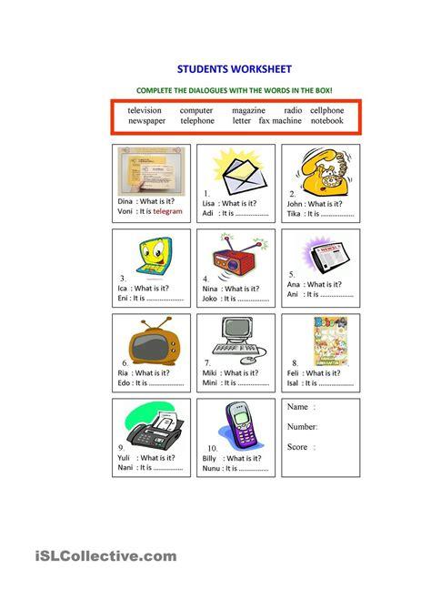 means  communication worksheet worksheets  kids