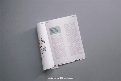 This psd mockup offers smart objects to show your designs on the inner and outer side free a4 brochure mockup. Modern Magazine Mockup | Free Mockup