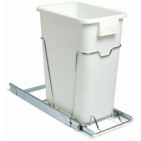 under sink garbage can track pull out built in trash cans cabinet slide out under sink