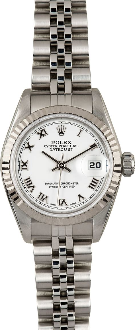 rolex womens datejust  stainless certified pre owned
