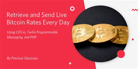 On the next screen click on the proceed button and a confirmation email will be sent to your email address. Retrieve and Send Live Bitcoin Rates Every Day Using CEX.io, Twilio SMS, and PHP - Twilio