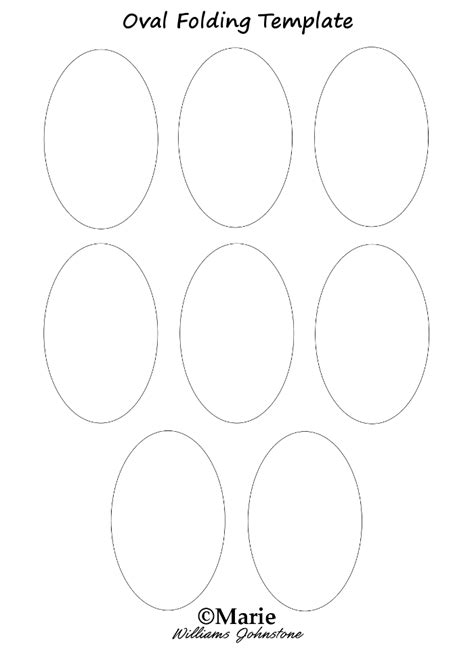 oval template easy oval tea bag folding paper craft