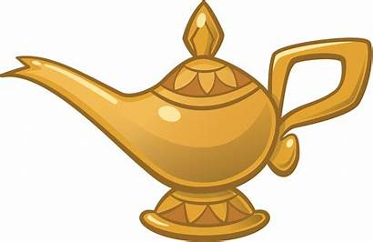 Genie Lamp Clipart Aladdin Jafar Oil Vector