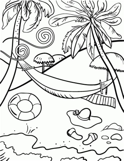 beach coloring pages  print uwmi
