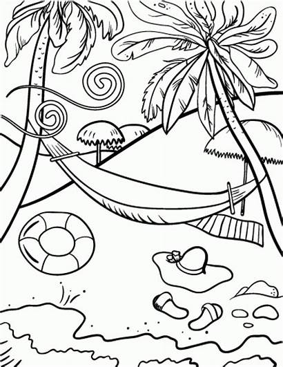 Coloring Beach Pages