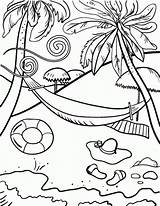 Coloring Print Beach Pages sketch template