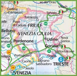 map of large map of friuli venezia giulia