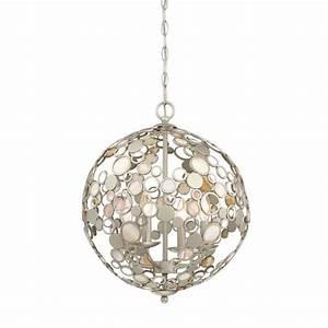 Shop Quoizel Fairgate 16-in Silver Coastal Multi-Light Orb
