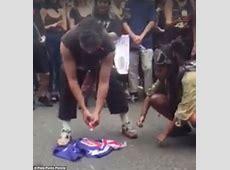 Australia flag burned at Invasion Day in protester video
