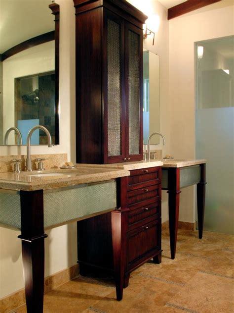 savvy bathroom vanity storage ideas hgtv