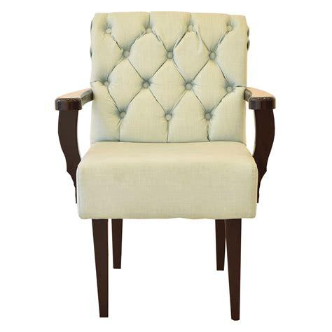 foto de Cadeira Royale em Tecido Linho Azul Turquesa em Capitonê