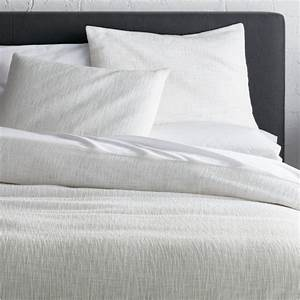 Lindstrom White Duvet Covers and Pillow Shams | Crate and ...