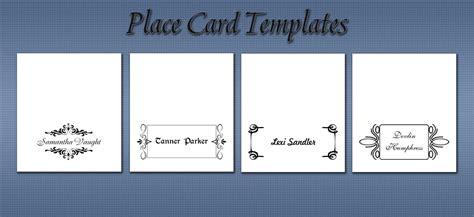 place card templates