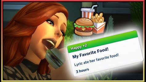 Choose Your Favourite Food Mod 🍔 The Sims 4 Create