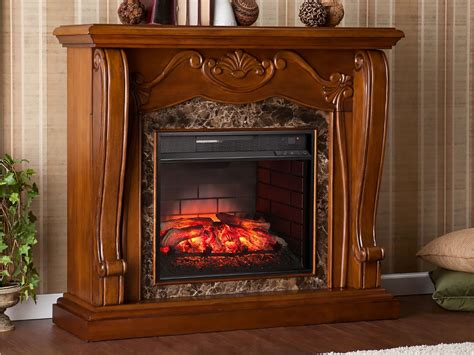 cardona infrared electric fireplace mantel package