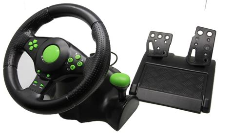 Xbox 360 Steering Wheel by Free Shipping 2016 Wired Usb Vibration Racing Wheel
