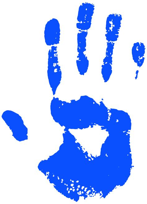 Handprint Clipart Blue Clipart Handprint Pencil And In Color Blue Clipart