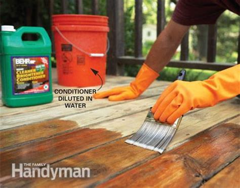 restaining a deck without stripping how to remove flaking deck stain the family handyman