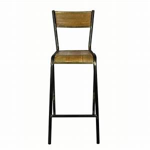 Chaise Haute Metal : chaise de bar haute en m tal et bois pilot red cartel par 2 decoclico ~ Teatrodelosmanantiales.com Idées de Décoration