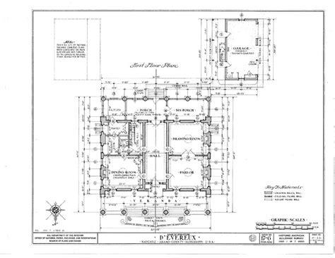 antebellum floor plans d evereux an antebellum mansion house blueprints ebay