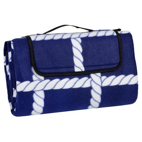Folding Fleece Waterproof Picnic Blanket Outdoor Mat Rug