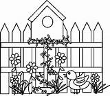 Birdhouse Bird Coloring Pages Houses Colouring Drawing Google Making sketch template