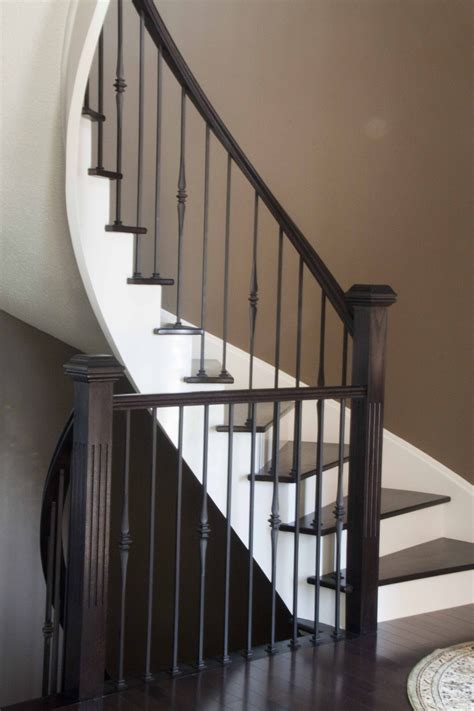 Wrought Iron Banister Rails - railing dazzling lowes stair railing for wondrous home