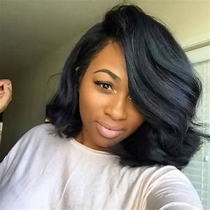 Wavy Bob with Deep Side Part | Bobs for Black Girls ...