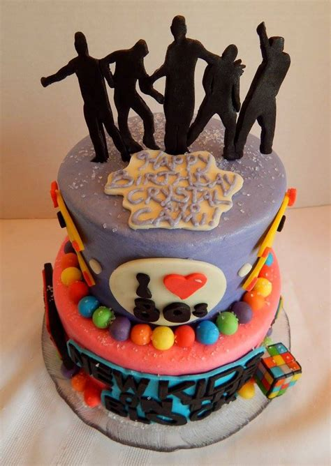 New Kids On The Block80's Themed Birthday Cake
