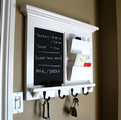 kitchen message board organizer home decor framed furniture mail organizer storage
