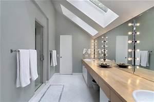 quelle couleur pour une salle de bain With salle de bain mansardee photos