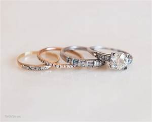 wedding rings stackable rings gold wedding band sets With stackable wedding rings