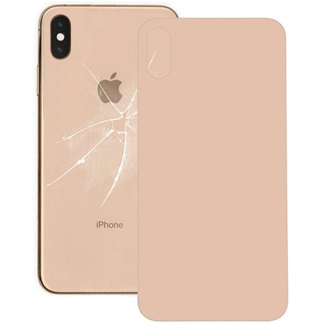 glass battery  cover  iphone xs max gold