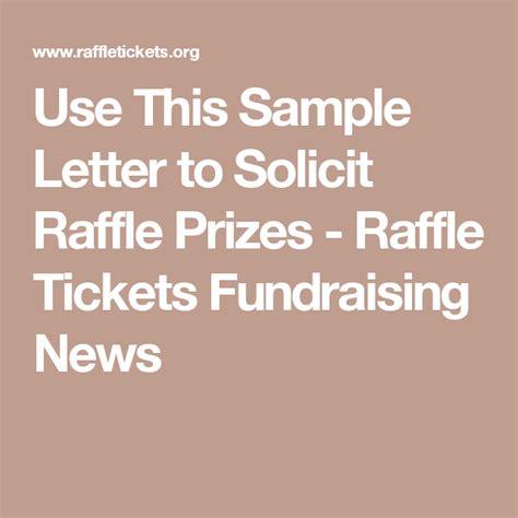 sample letter  solicit raffle prizes raffle