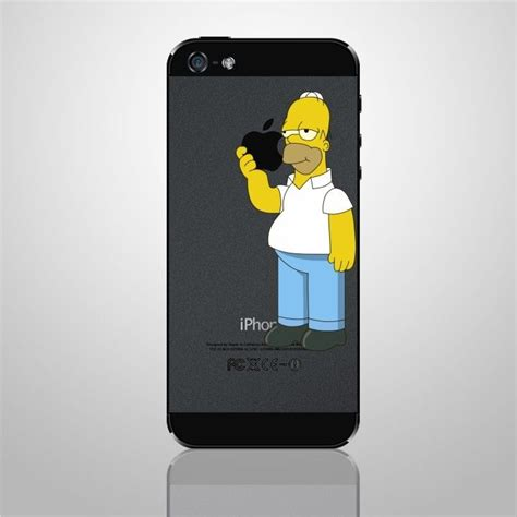 iphone 5 ebay iphone decal sticker homer the simpsons for apple