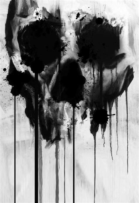 black watercolor skull drip | Crayons | Pinterest | watercolours | Pinterest | Crayons