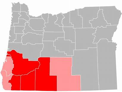 Oregon Southern Svg Counties Commons Included Wikipedia