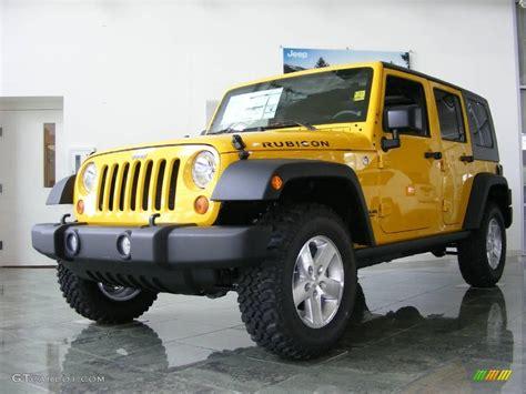 jeep yellow 2009 detonator yellow jeep wrangler unlimited rubicon 4x4