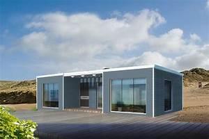 bauhu maison ossature metallique legere modulaire en kit With maison ossature metallique kit