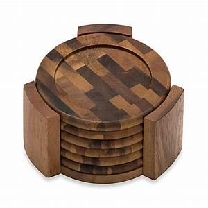 Buy Lipper International Acacia Coasters (Set of 6) from