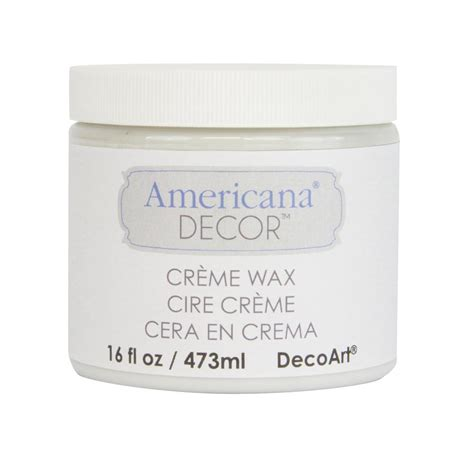 Americana Decor Creme Wax 8 Oz Clear by Decoart Americana Decor 16 Oz Clear Creme Wax Adm01 22
