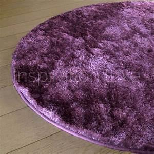 tapis sur mesure rond violet shaggy fin par inspiration luxe With tapis shaggy sur mesure